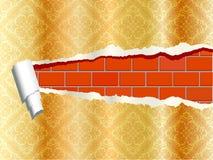 Papel de parede rasgado Imagem de Stock Royalty Free