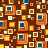 Papel de parede retro do estilo do fundo dos quadrados Fotografia de Stock Royalty Free