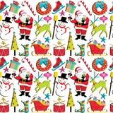 Papel de parede retro do Natal ilustração stock