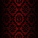 Papel de parede retro sem emenda do damasco - cores vermelhas ilustração stock