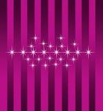 Papel de parede roxo da luz das estrelas Imagem de Stock