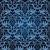 Papel de parede sem emenda azul ilustração do vetor