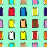 Papel de parede sem emenda de camisetas dos desenhos animados Imagens de Stock Royalty Free