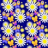 Papel de parede sem emenda com borboletas decorativas Fotos de Stock Royalty Free
