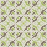 Papel de parede sem emenda com teste padrão floral marrom verde Fotografia de Stock Royalty Free