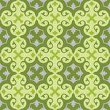 Papel de parede sem emenda com verde floral do teste padrão Fotos de Stock Royalty Free