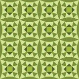 Papel de parede sem emenda com verde geométrico e floral do teste padrão Imagem de Stock