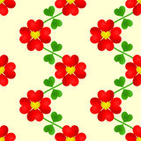 Papel de parede sem emenda da flor do coração Ilustração do Vetor