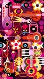 Papel de parede sem emenda da música ilustração royalty free