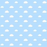 Papel de parede sem emenda da nuvem ilustração royalty free