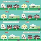 Papel de parede sem emenda da vizinhança ilustração royalty free