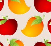 Papel de parede sem emenda das frutas do vetor Imagens de Stock Royalty Free