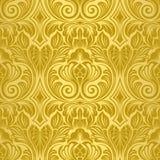 Papel de parede sem emenda do ouro ilustração royalty free