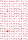 Papel de parede sem emenda do teste padrão dos corações da aquarela Imagem de Stock