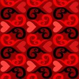 Papel de parede sem emenda do Valentim Foto de Stock