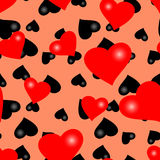 Papel de parede sem emenda do Valentim Fotografia de Stock
