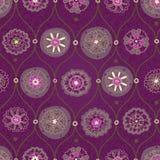 Papel de parede sem emenda do vintage com ornamento floral. Foto de Stock