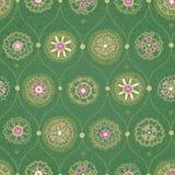 Papel de parede sem emenda do vintage com ornamento floral. Imagem de Stock