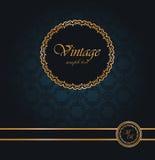 Papel de parede sem emenda do vintage com uma fita e um frame Foto de Stock Royalty Free