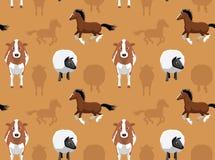 Papel de parede sem emenda 14 dos animais da fazenda de criação Fotos de Stock