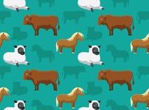 Papel de parede sem emenda 15 dos animais da fazenda de criação Imagens de Stock Royalty Free