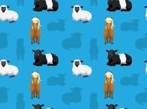 Papel de parede sem emenda 16 dos animais da fazenda de criação Foto de Stock