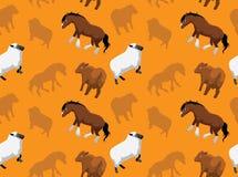 Papel de parede sem emenda 13 dos animais da fazenda de criação Imagem de Stock Royalty Free