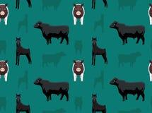 Papel de parede sem emenda 1 dos animais da fazenda de criação Fotografia de Stock Royalty Free