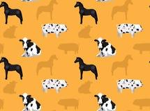 Papel de parede sem emenda 2 dos animais da fazenda de criação Imagens de Stock Royalty Free