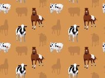 Papel de parede sem emenda 8 dos animais da fazenda de criação Foto de Stock Royalty Free