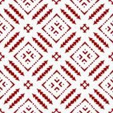 Papel de parede sem emenda geométrico floral chinês árabe islâmico real vermelho oriental decorativo bonito abstrato da textura d ilustração royalty free