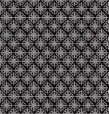 Papel de parede sem emenda preto do damasco Ilustração do Vetor
