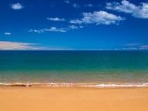 Papel de parede tropical da praia fotos de stock royalty free