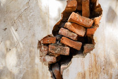 Papel de parede velho do tijolo Foto de Stock Royalty Free