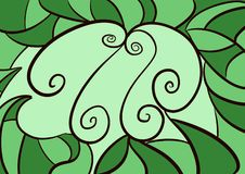 Papel de parede verde da cena do fundo da folha ilustração stock