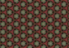 Papel de parede verde vermelho abstrato do teste padrão de flor Fotografia de Stock Royalty Free