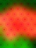 Papel de parede verde vermelho dos flocos da neve Imagem de Stock Royalty Free