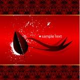 Papel de parede vermelho abstrato Foto de Stock