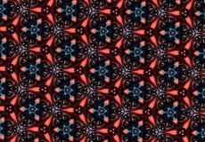 Papel de parede vermelho abstrato do teste padrão Foto de Stock Royalty Free