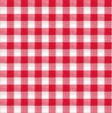 Papel de parede vermelho e branco da textura da toalha de mesa Fotos de Stock