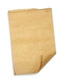Papel de pedazo viejo aislado en blanco Imágenes de archivo libres de regalías