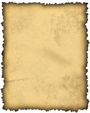 Papel de pergaminho em branco velho Foto de Stock Royalty Free