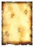 Papel de pergaminho queimado ilustração do vetor