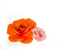 Papel de Rosa Imagens de Stock