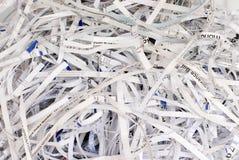 Papel de Shreaded fotos de archivo libres de regalías