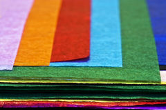 Papel de tecido colorido fotografia de stock