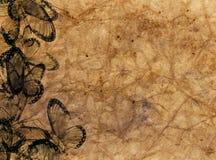 Papel decorativo antiguo texturizado altamente detallado Imagenes de archivo