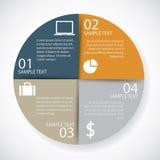 Papel del círculo de Infographics Imagenes de archivo