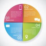 Papel del círculo de Infographics Imagen de archivo libre de regalías