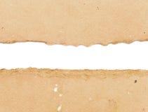Papel del conjunto de Brown rasgado Fotografía de archivo libre de regalías